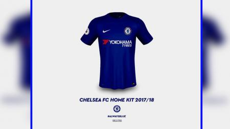 Jersey home Chelsea 2017/18. - INDOSPORT