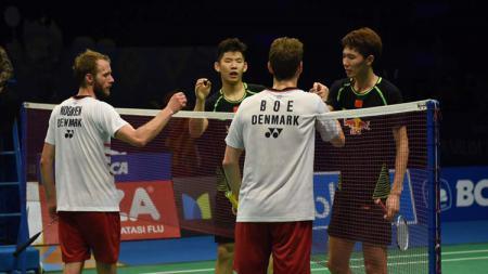 Akibat tersinggung karena pernyataan pasangannya, juara bertahan India Open asal Denmark, yakni pasangan Mathias Boe/Carsten Mogensen harus berpisah. - INDOSPORT