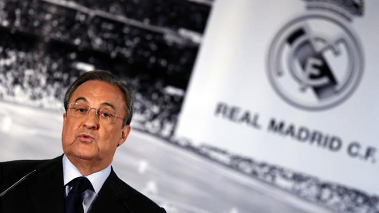 Florentino Perez kembali jadi presiden Real Madrid hingga 2021. Copyright: INDOSPORT