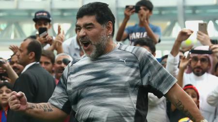 Diego Maradona, legenda Timnas Argentina. - INDOSPORT