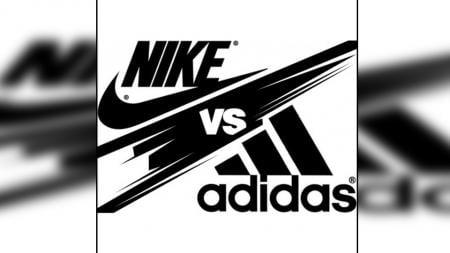 Logo Nike vs Adidas. - INDOSPORT