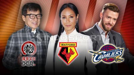 Jackie Chan, Jada Pinkett Smith, dan Justin Timberlake. - INDOSPORT