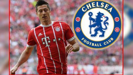 Robert Lewandowski, striker Bayern Munchen yang dikabarkan akan segera didatangkan Chelsea. - INDOSPORT