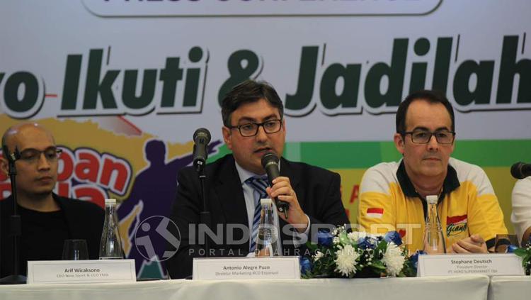 Konferensi Pers Persija Jakarta vs Espanyol. Copyright: Zainal/INDOSPORT
