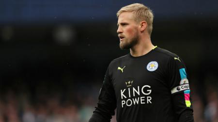 Kiper Leicester City, Kasper Schmeichel. - INDOSPORT