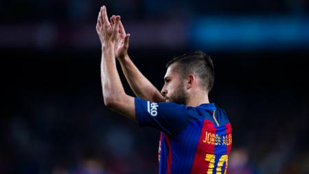 Bek sayap Barcelona, Jordi Alba. - INDOSPORT