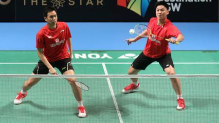 Hendra Setiawan/Tan Boon Heong di semifinal Australia Open 2017. - INDOSPORT