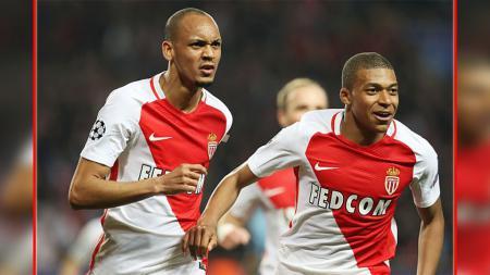 Fabinho dan Kylian Mbappe, dua bintang AS Monaco. - INDOSPORT