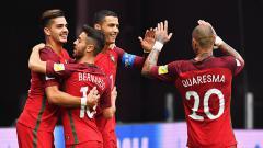 Indosport - Timnas Portugal menang atas Selandia Baru.
