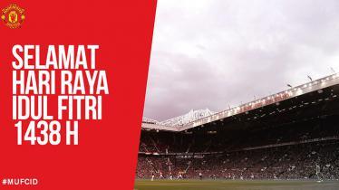 Ucapan selamat Lebaran yang disampaikan Manchester United. - INDOSPORT