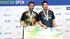 Indosport - Hendra Setiawan/Tan Boon Heong menjadi runner up Australia Open 2017.