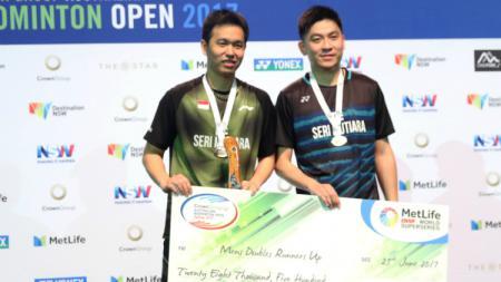 Hendra Setiawan/Tan Boon Heong menjadi runner up Australia Open 2017. - INDOSPORT