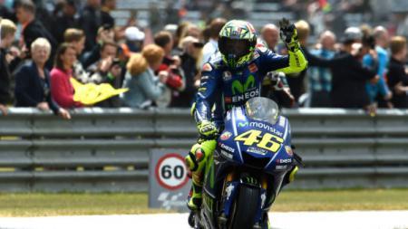 Pembalap Movistar Yamaha, Valentino Rossi. - INDOSPORT