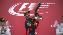 Daniel Ricciardo di podium GP Azerbaijan 2017.