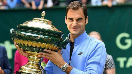 Roger Federer menang Gerry Weber Terbuka untuk yang kesembilan kalinya. - INDOSPORT