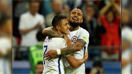 Chile berhasil lolos ke final Piala Konfederasi 2017. - INDOSPORT