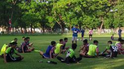 Pemain PSM Makassar U-19 sudah latihan kembali pasca libur lebaran.