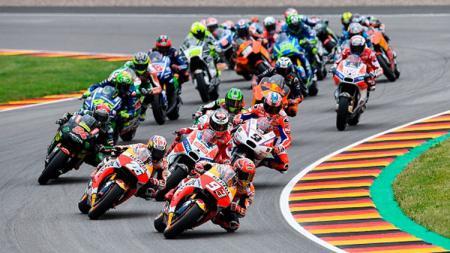 Situasi balapan MotoGP Jerman. - INDOSPORT