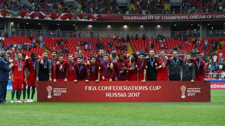Portugal raih peringkat 3 usai kalahkan Meksiko 2-1 di Piala Konfederasi. - INDOSPORT