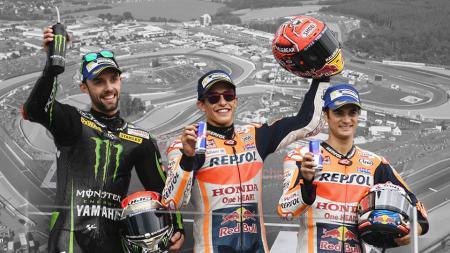 Deretan catatan-catatan penting tersaji pasca balapan MotoGP Jerman 2017. - INDOSPORT