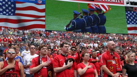Para pendukung Manchester United di Amerika Serikat - INDOSPORT
