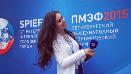 Jurnalis asal Rusia, Ekaterina Nadolskaya. - INDOSPORT