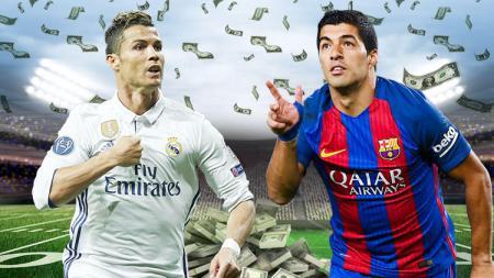 Dosa besar Barcelona tendang Luis Suarez sama saja dengan kebodohan rival LaLiga Spanyol mereka, Real Madrid yang jual Cristiano Ronaldo. - INDOSPORT