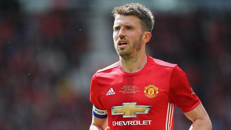 Gelandang Manchester United, Michael Carrick. Copyright: INDOSPORT
