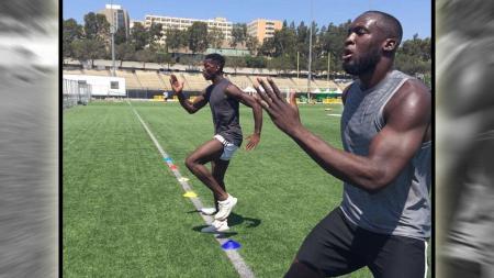 Romelu Lukaku saat berlatih bersama dengan Paul Pogba. - INDOSPORT