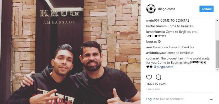 Akun Instagram Diego Costa  Copyright: Instagram
