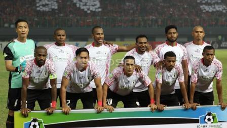 Susunan starter para pemain Persipura Jayapura.