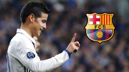James Rodriguez dikabarkan tengah menjadi incaran Barcelona. - INDOSPORT