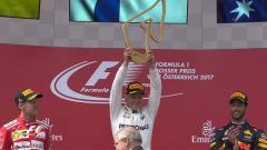 Indosport - Valtteri Bottas sukses merebut gelar juara GP Austria 2017.