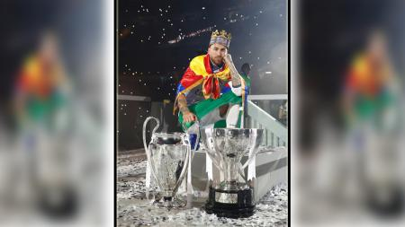 Sergio Ramos, bek tengah dan kapten Real Madrid. - INDOSPORT