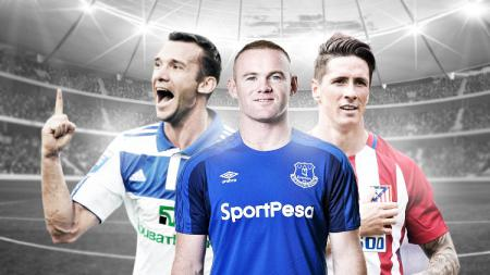 Andriy Shevchenko, Wayne Rooney dan Fernando Torres. - INDOSPORT