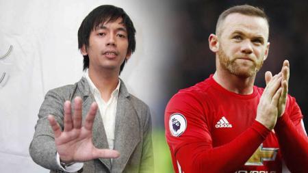 Rian D Masiv dan Wayne Rooney. - INDOSPORT