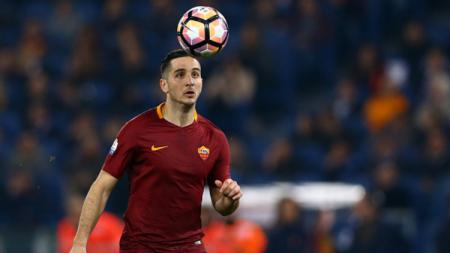Kostas Manolas, bek tengah AS Roma. - INDOSPORT