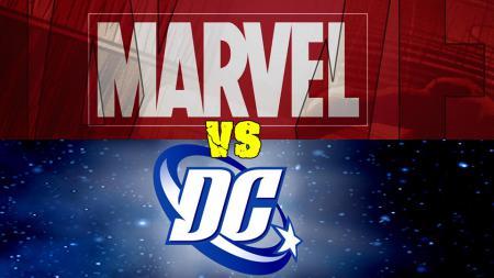 Logo Marvel vs DC Comics. - INDOSPORT