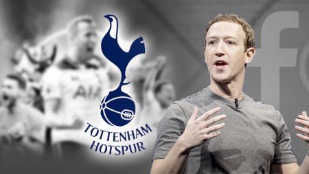 Mark Zuckerberg bos facebook dikabarkan akan membeli klub Liga Inggris, Tottenham Hotspur. - INDOSPORT