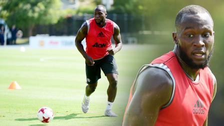 Striker anyar Manchester United, Romelu Lukaku.