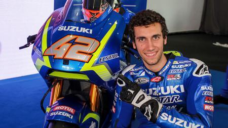 Alex Rins optimistis tim Suzuki Ecstar bakal tampil garang di MotoGP 2020 berkat amunisi baru mereka, yakni ban Michelin. - INDOSPORT