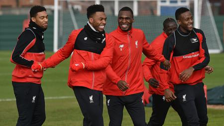 Skuat Liverpool saat sedang lathan. - INDOSPORT