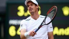 Indosport - Andy Murray harus tumbang di babak perempatfinal Wimbledon 2017.