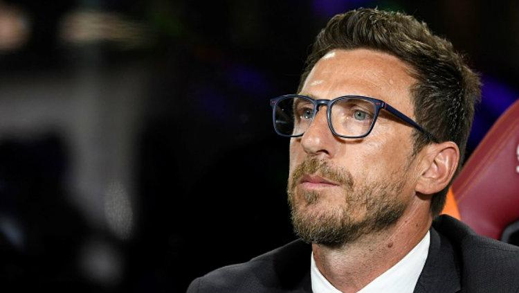 Pelatih anyar AS Roma, Eusebio di Francesco. Copyright: Claudio Pasquazi/Anadolu Agency/Getty Images