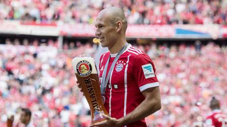 Penyerang Bayern Munchen, Arjen Robben. - INDOSPORT