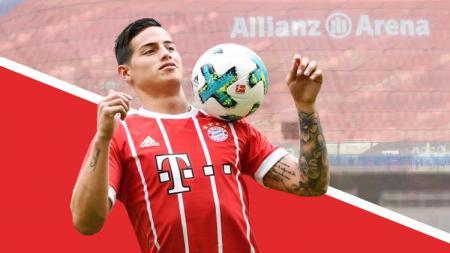 Gelandang anyar Bayern Munchen, James Rodriguez. - INDOSPORT