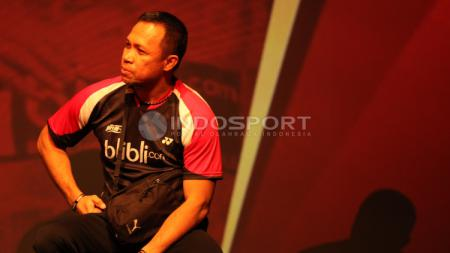 Pelatih ganda campuran PBSI, Richard Mainaky memberikan evaluasinya terkait performa anak asuhnya di turnamen Indonesia Masters 2020. - INDOSPORT