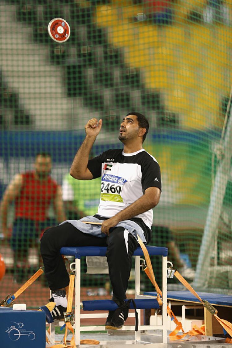 Abdullah Hayayei, atlet paralimpiade asal Uni Emirat Arab. Copyright: INDOSPORT
