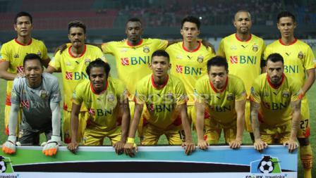 Skuat Bhayangkara FC saat menghadapi Madura United.