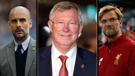 Pep Guardiola, Alex Ferguson, dan Jurgen Klopp, deretan pelatih berkualitas tinggi di Eropa. - INDOSPORT